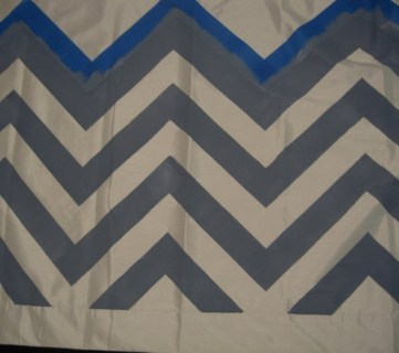 Ombre Painted Chevron Curtains Tutorial