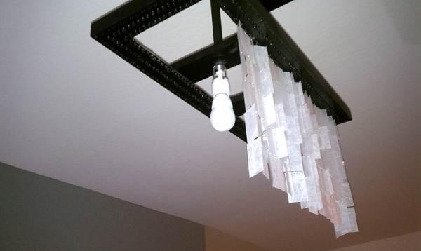 diy faux capiz chandelier 31