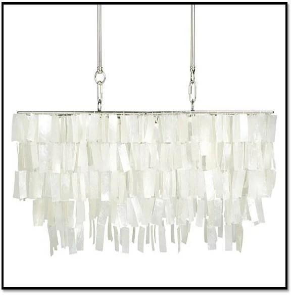inspiration faux capiz chandelier