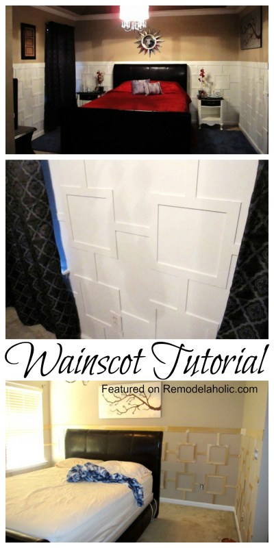 New style Wainscoting Tutorial