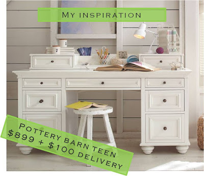 Pottery Barn Desk, How To Make A Look Alike, By House Envy On Remodelaholic