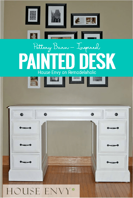 Pottery Barn Inspired Desk, By House Envy On Remodelaholic