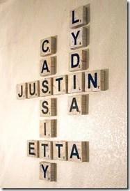 Scrabble Art, family names, game room art (2)