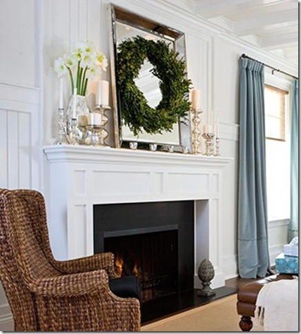 fireplace mantle style bhg