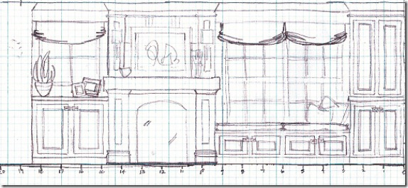 first sketch of mantel copy