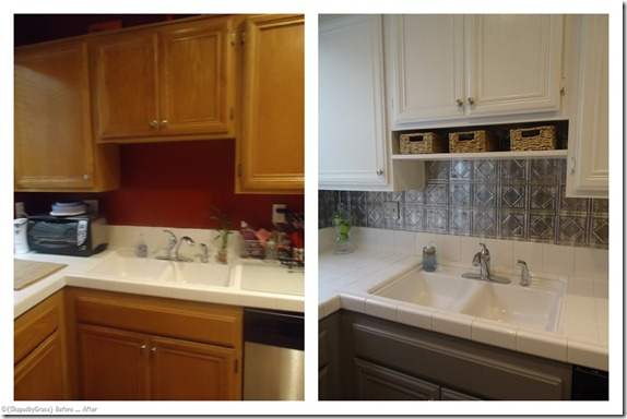 painting kitchen cabinets home depot islan two toned makeover | diy