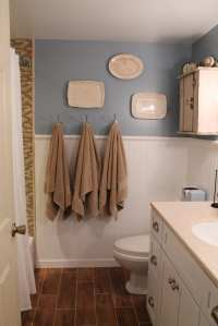 Remodelaholic | Bathroom Renovation with Wood Grain Tile ...