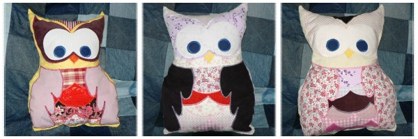 Fabric Owls by Dominika