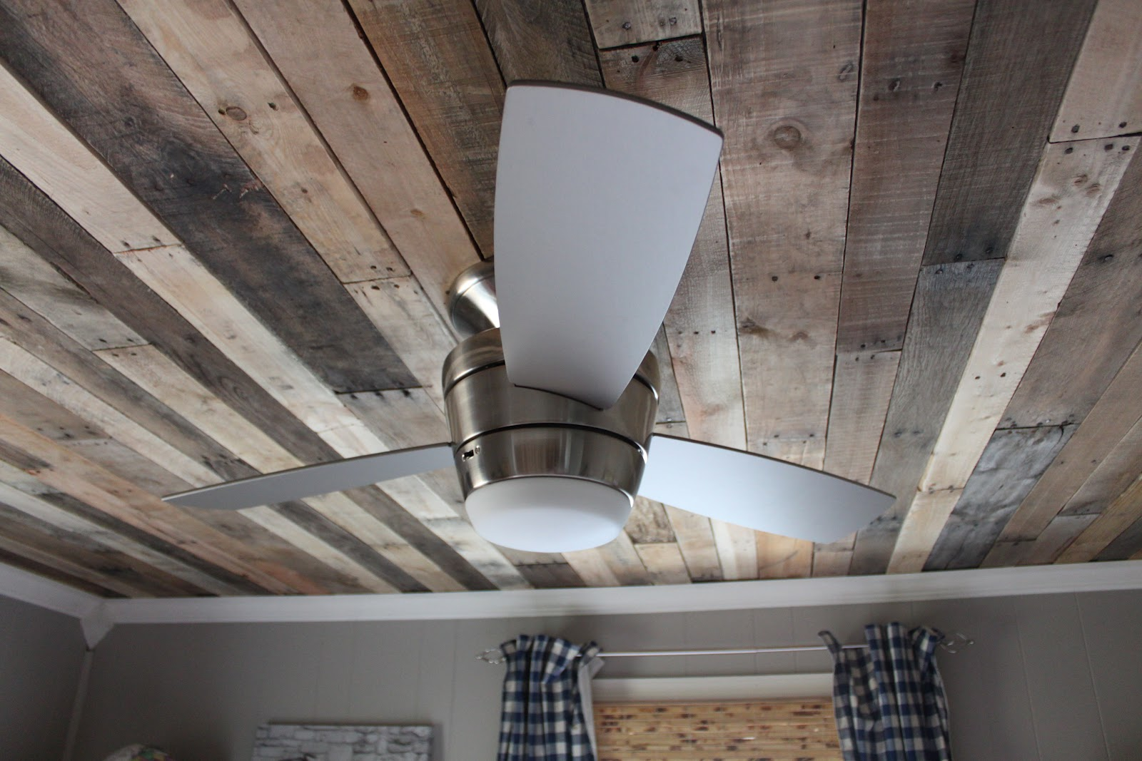 Gorgeous DIY Rustic Wood Ceiling By Maple Leaves And Sycamore Trees  Featured On Remodelaholic