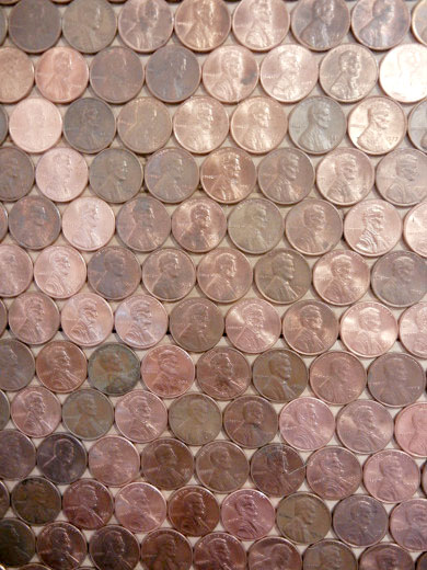 Penny accent wall (4)