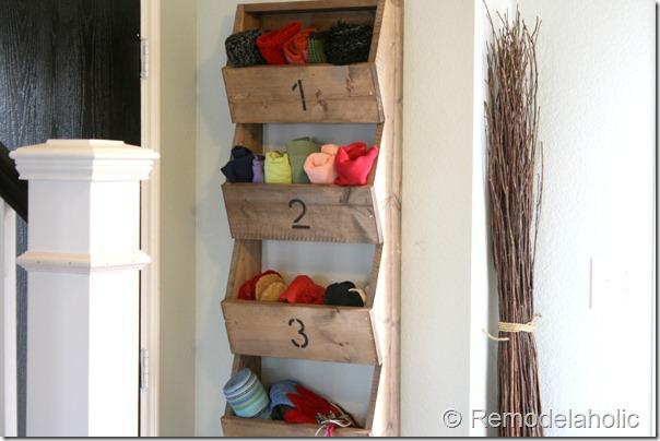 wall monut storage bin plans
