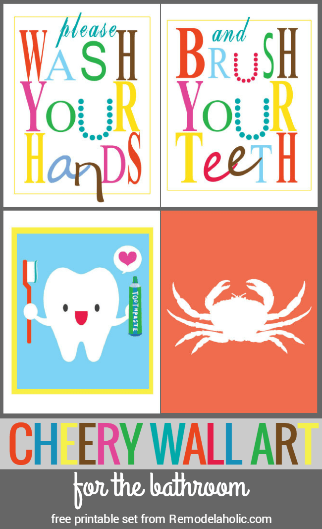 picture about Free Printable Bathroom Art named Remodelaholic Shiny and Cheery Toilet Artwork