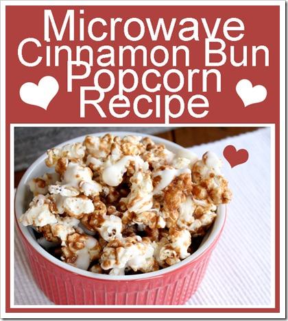 Microwaved Cinnamon Bun Popcorn