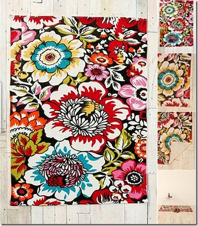 big garden printed rug
