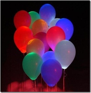 Glowing Neon Balloons