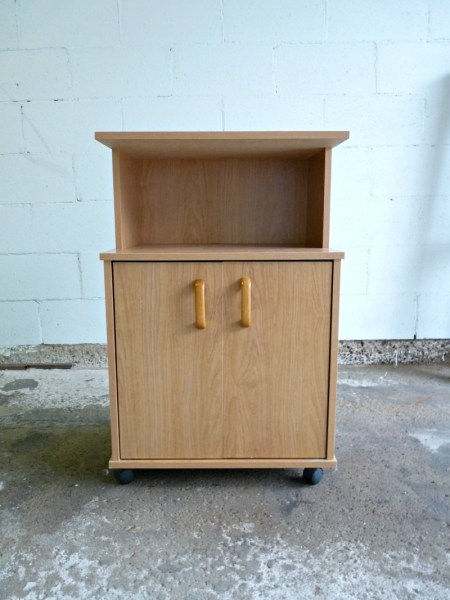 Play Kitchen From Microwave Stand (3)