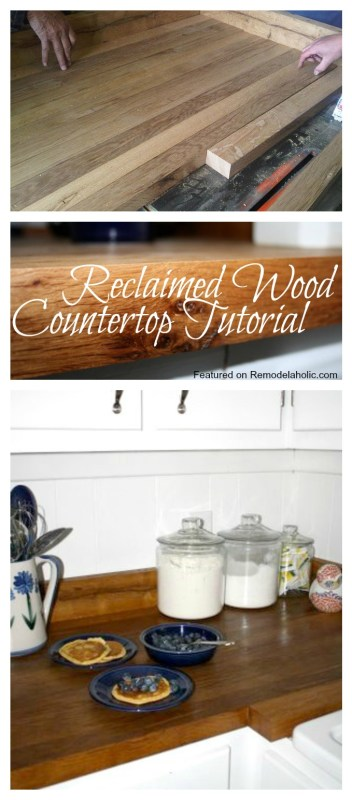 Reclaimed Wood Countertop Tutorial