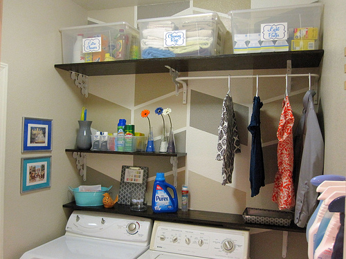 Small Laundry Room Makeover By Design Build Love Featured On Remodelaholic