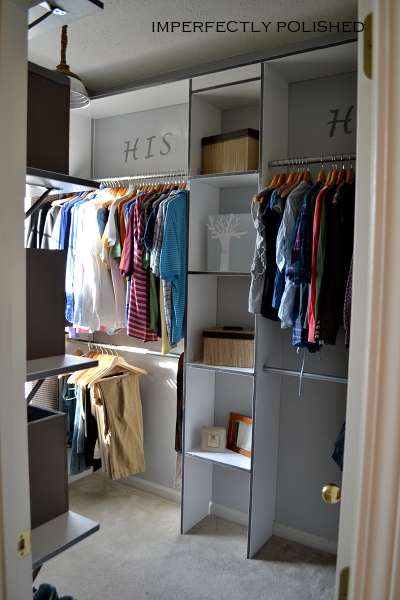 his and hers closet makeover