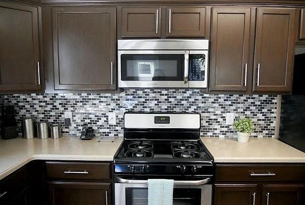 Remodelaholic Sleek Dark Chocolate Painted Cabinets!