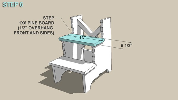 Stepping Stool step 6