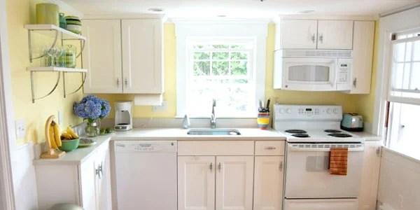 beach themed kitchen decor base cabinet depth remodelaholic   cottage remodel: before & after