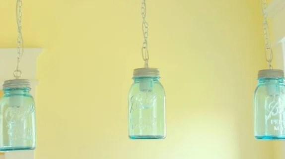 Remodelaholic  DIY Vintage Canning Mason Jar Pendant Lights