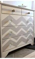 dresser-chevron-painted