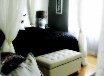 Black and White Master Bedroom Reveal