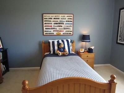 blue boys bedroom makeover