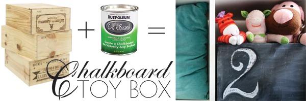 chalkboar toy box storage 2