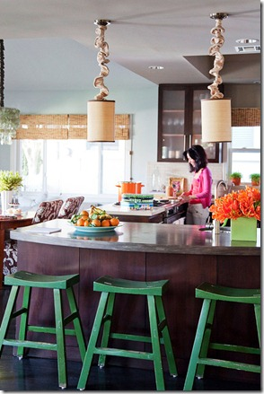 BHG-colorful-kitchen budget dining room ideas