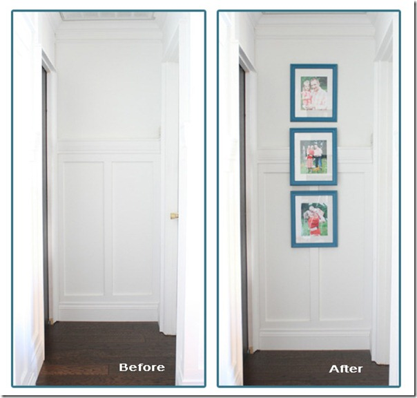 Before and after hallway
