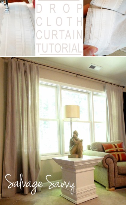 Drop Cloth Curtains Tutorial