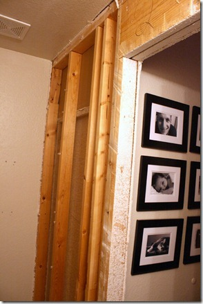 Removal of studs and header to install a pocket door on Remodelaholic