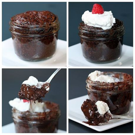 molten lava microwave brownie mug cakes