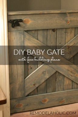 DIY Baby Or Pet Gate With Free Building Plans, From Remodelaholic