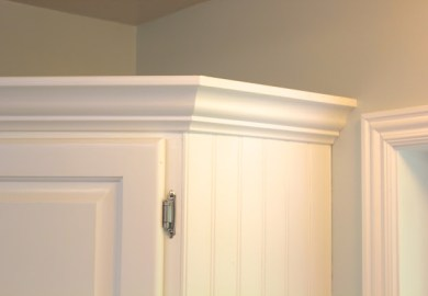 Adding Crown Molding To Kitchen Cabinets Before After