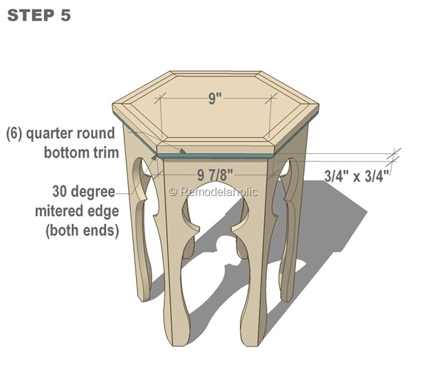 free moroccan side table plans step 5