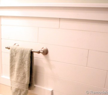 Inexpensive Plank Wall How To