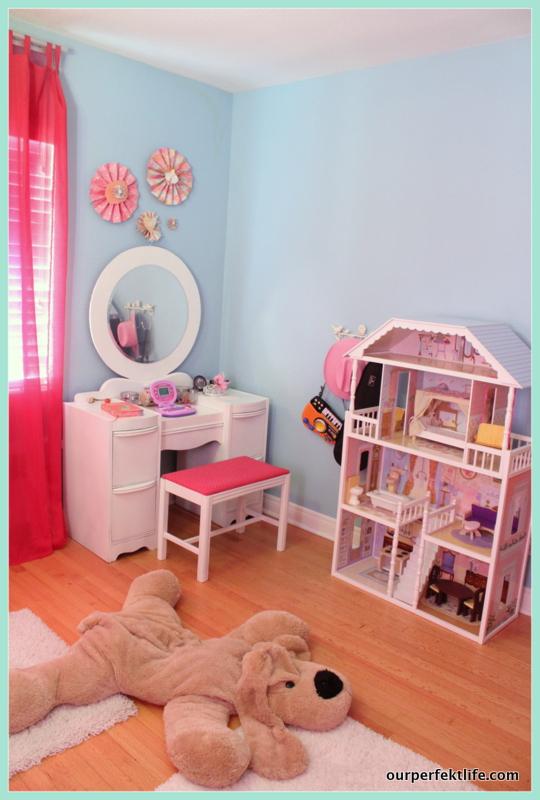 diy hanging loft bed in a girl s bedroom
