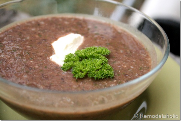 15 minute black bean soup recipe