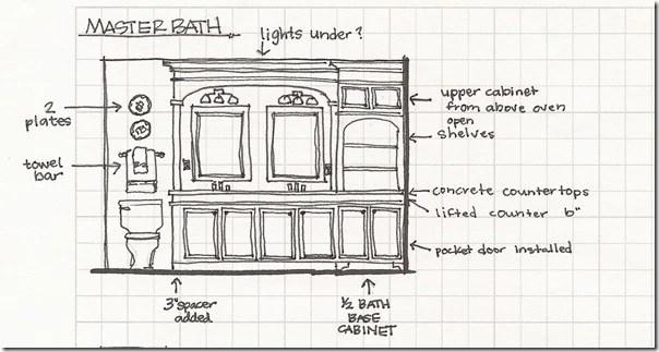 Bathroom elevation sketch2