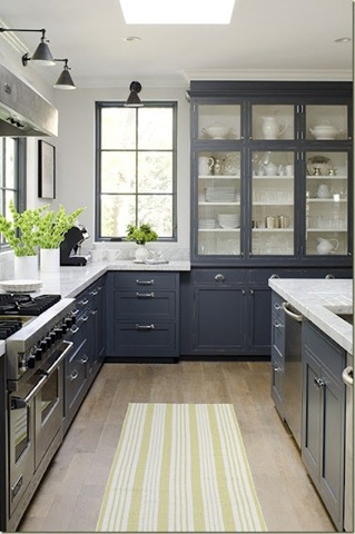 Grey kitchen open uppers