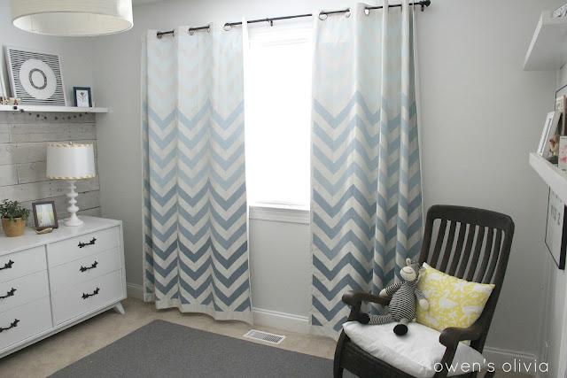 ombre chevron curtains