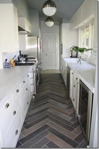 herringbone tile flooring
