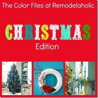 Color Christmas Pin Collage