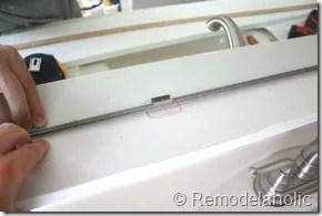 Framing a large bathroom mirror (10)