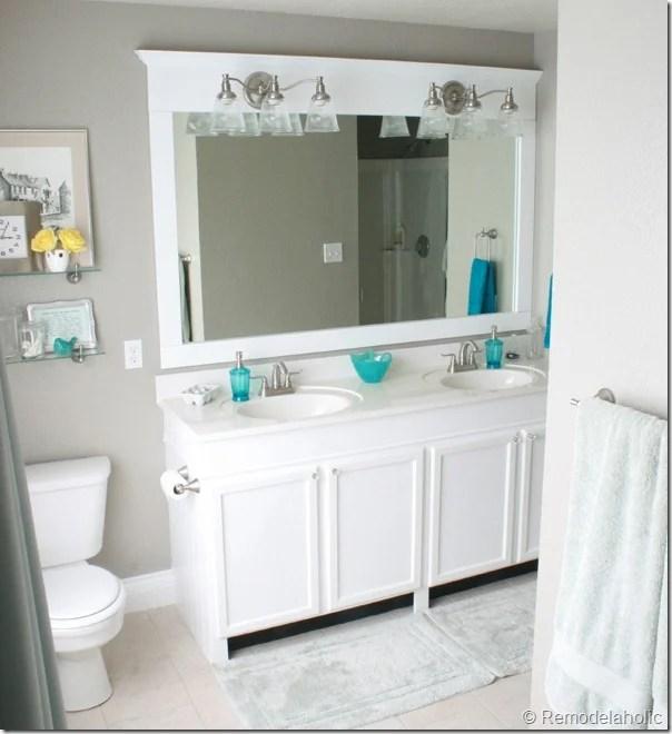 Framing a large bathroom mirror (1)