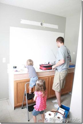 Framing a large bathroom mirror (6)